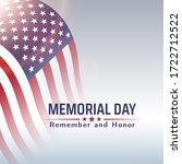 memorial day in usa with... | Shutterstock .eps vector #1722712522