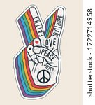 Peace Hand Gesture Sign With...
