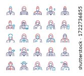 vector thin linear icon set of...   Shutterstock .eps vector #1722736855