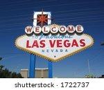 welcome to las vegas sign | Shutterstock . vector #1722737