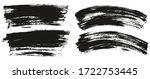 flat paint brush thin long  ... | Shutterstock .eps vector #1722753445