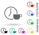 a clock and a cup of coffee...