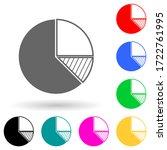 diagram pie multi color style...