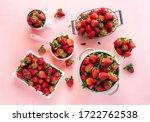 Organic Strawberry Fruits In...