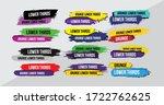 news lower thirds pack vector.... | Shutterstock .eps vector #1722762625