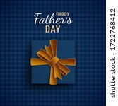 happy father's day banner  gift ... | Shutterstock .eps vector #1722768412
