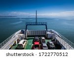 Boat Over The Gulf Of Nicoya...