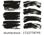flat paint brush thin long  ... | Shutterstock .eps vector #1722778795