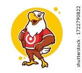 eagle cartoon logo design...   Shutterstock .eps vector #1722790822