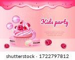 kids party realistic vector...   Shutterstock .eps vector #1722797812