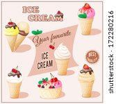 vector illustration set of ice... | Shutterstock .eps vector #172280216