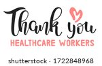 thank you healthcare workers... | Shutterstock .eps vector #1722848968