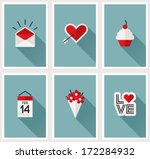 set of romantic valentines day... | Shutterstock .eps vector #172284932
