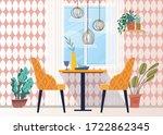 elegant scandinavian dining or... | Shutterstock .eps vector #1722862345
