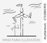 modern flat wind farm...