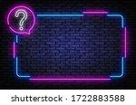 neon quiz sign vector design... | Shutterstock .eps vector #1722883588