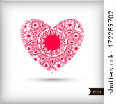beautiful heart for valentines... | Shutterstock .eps vector #172289702