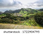 Panorama Of Green Hills And...