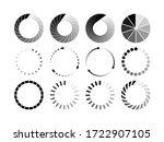 set of website loading black... | Shutterstock .eps vector #1722907105