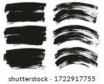 flat paint brush thin long  ... | Shutterstock .eps vector #1722917755