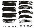 flat paint brush thin long  ... | Shutterstock .eps vector #1722917785