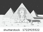 astronaut found another alien... | Shutterstock .eps vector #1722925522