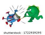 immunity fights the virus... | Shutterstock .eps vector #1722939295
