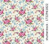 bright seamless pattern flowers ...   Shutterstock . vector #1722961822
