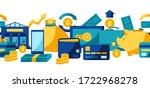 banking seamless pattern with... | Shutterstock .eps vector #1722968278