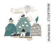 childish illustration with... | Shutterstock .eps vector #1722975958