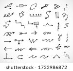 vector set of hand drawn arrows | Shutterstock .eps vector #1722986872