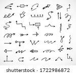 vector set of hand drawn arrows | Shutterstock .eps vector #1722986872