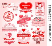 valentines day collection of... | Shutterstock .eps vector #172298888