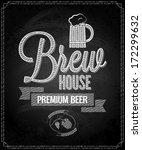 beer menu design house... | Shutterstock .eps vector #172299632