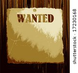 vector old wanted poster on... | Shutterstock .eps vector #17230168
