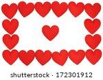 frame of fabric heart  for... | Shutterstock . vector #172301912