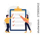 to do list and planning... | Shutterstock .eps vector #1723032412