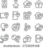 Smart Home Icon Set Vector...