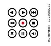 Media Icons. Musical Buttons....