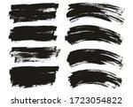 flat paint brush thin long  ... | Shutterstock .eps vector #1723054822