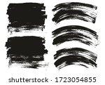 flat paint brush thin long  ... | Shutterstock .eps vector #1723054855