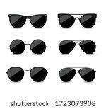 set of fashionable black... | Shutterstock .eps vector #1723073908