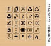 packaging flat vector symbols.... | Shutterstock .eps vector #1723079932