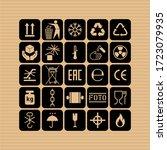 packaging flat vector symbols.... | Shutterstock .eps vector #1723079935