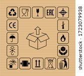 packaging flat vector symbols.... | Shutterstock .eps vector #1723079938
