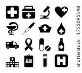 black health medical icon pack... | Shutterstock .eps vector #1723095148