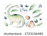 Cute Cartoon Baby Dinosaurs...