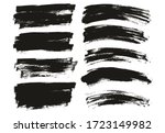 flat paint brush thin long  ... | Shutterstock .eps vector #1723149982