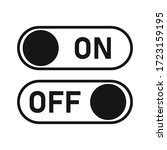 switch toggle button vector...