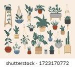 set of stylish vintage house... | Shutterstock .eps vector #1723170772